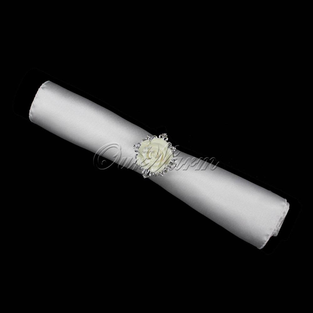 Кольцо для салфеток Ourwarm 12pcs/lot , /, CJH-YMG-Q-WHT-12 кольцо для салфеток quaeas aliexpress qn13030707