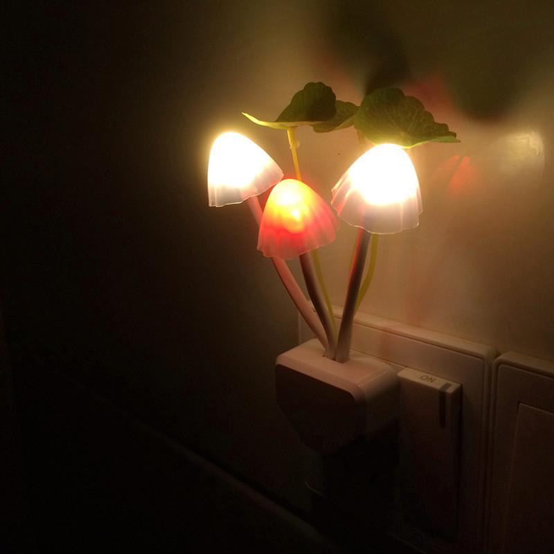 Cute Colorful Romantic LED Mushroom Night Light Dream Bed Lamp Home Illumination Free Shipping L0142411(China (Mainland))