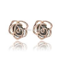 Fashion rhinestone earrings flower design jewelry for women brand accessories wholesale bijoux