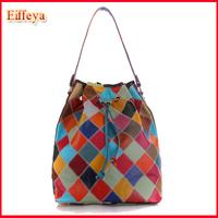 New Women Handbag National Trend Bohemia Style Chain Drawstring Bucket Bag Women Messenger Bag Free Shipping