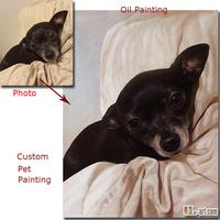Custom pet portrait oil painting handmade oil on canvas paint from photo