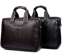 Genuine Leather Men's Briefcase Fashion Brand Mens Business Handbag Quality PU Leather Briefcase Messenger Travel Bag  XB117