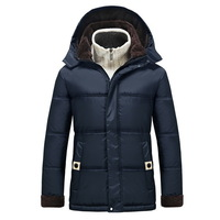 ADD Fleece Windproof Men Warm Parkas Plus Size M-4XL Fur Lining Winter Long Outerwear 2014 Man Casual Down Jackets