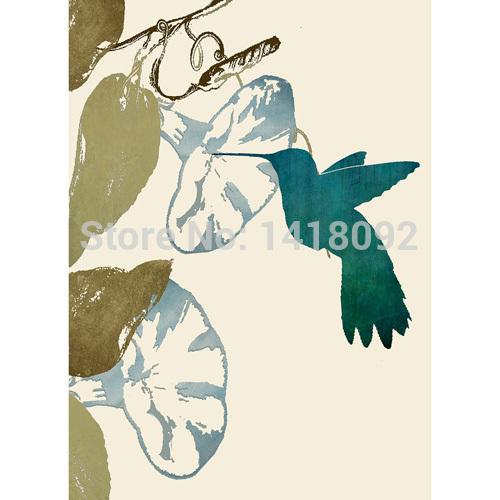 Estilo de pintura simples colibri verde máscara do rolo cortinas para decoração cozinha de banho(China (Mainland))