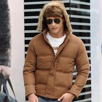 Cotton Padded Man Casual Warm Parkas Plus Size M-3XL Korean Style New Winter Add Fleece Men Fashion Down Jackets