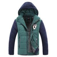 Plus Size M-4XL Men Winter Parkas Thick Warm Coats 2014 Fur Lining Patchwork Design Outerwear Young Man Fashion Down Jackets