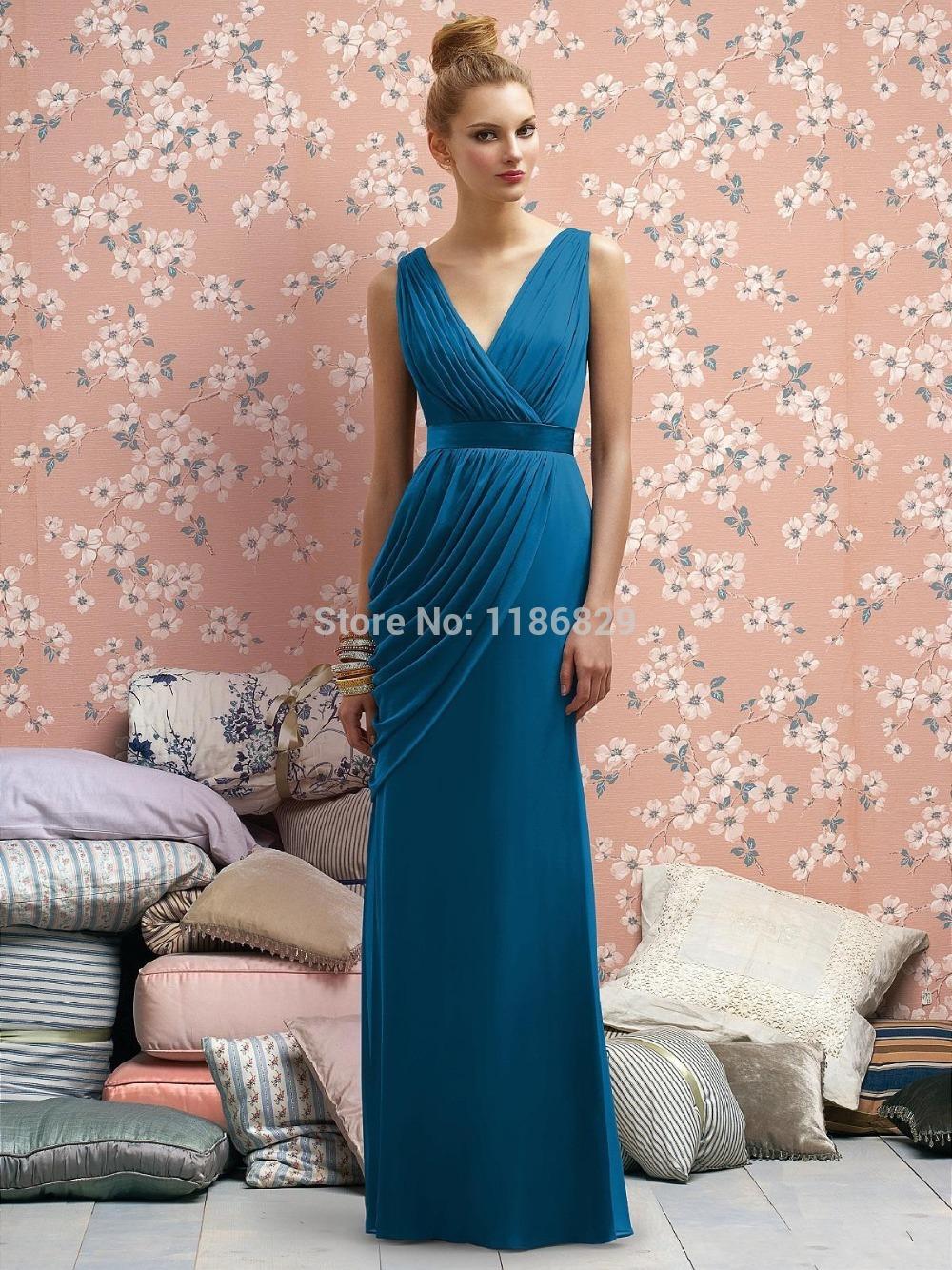 Cobalt vestidos de dama de honor azul