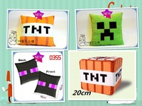 Minecraft MC TNT plush stuffed throw pillow toys for children Bomb toys Game Extensions box JJ strange hold pillow doll