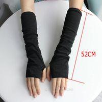 2014 New Pure Color Hand Long Mitten Gloves Women Knitted Wrist Arm Fingerless Winter Gloves Unisex Soft Keep Warm ZS*PJ110#S3