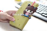 2014 Creative cute cartoon dust plug + screen wipe pendant mobile phone accessories free shipping!
