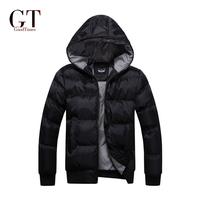 2014 Free Shipping Men's black Waterproof parka Men's Coat Winter Jacket New Fashion 2014 Top quality Plus Size M-XXXL GT11