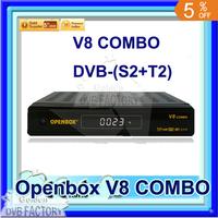 New arrival Openbox v8 combo DVB-S2 +DVB-T2 satellite receiver Openbox V8 COMBO free shipping by post