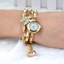 2014 New Fashion Quartz watch Analog Bracelet Watch for Women Watches Lady wristwatch with Butterfly Pendant  FMHM601#M1
