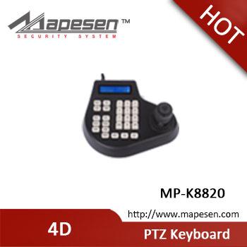 Visual 4D CCTV keyboard controller 2.5 inch high resolution TNT LCD display OSD editing menu RS485/RS232/RS422 PTZ keyboard(China (Mainland))