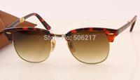 Top selling new unisex acetate metal original sunglasses 2176 990/51 havana folding clubmaster brown degrade sunglasses 51MM