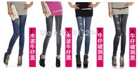 Free shipping women thin Ladies wild snow Denim jeans Leggings pencil pants Leggings autumn winter warm DDK013