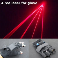 4PCS red laser gloves for dance free shipping