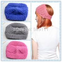 Knit headband earwarmer Crochet hairband Handmade earwarmer Knitted winter earwarmer 20pcs WH064