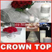 "Wedding decoration 4.75""x 1 Yards Silver DIAMOND MESH christmas RHINESTONE Crystal Ribbon party decoration free shipping"