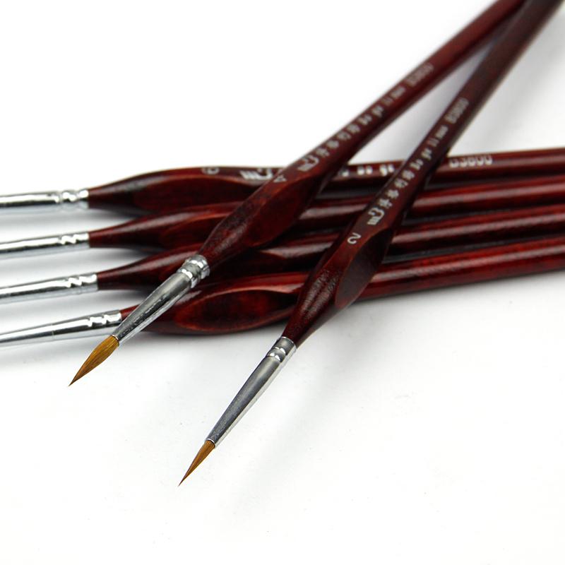 6pcs hook line painting brush gouache drawing pen watercolor /oil painting brush Art supplies(China (Mainland))