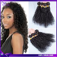 Bouncy Deep Curly Brazilian curly virgin hair 3pcs/lot natural black Brazilian Virgin Hair Deep wave Cheap Brazillian human hair