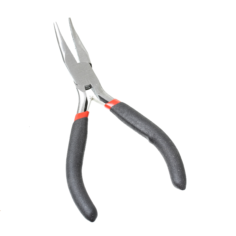 1PC Stainless Steel Bent Nose Pliers Diagonal Cutting Pliers Wire Crimping Black Jewelry Making 12.5cm B33701(China (Mainland))