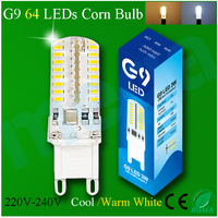 LED Corn Bulb G9 220V 3W Warm White / Cold white 360 Degree Silicon Shell Transparent Cover Bright Lamps 5Pcs/lot