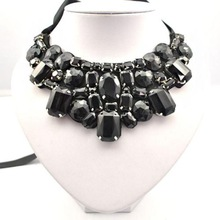Fashion Brand luxury Statement Necklace For Women Multicolor Crystal Choker Necklaces Pendants Jewlery Bib Collar Necklace