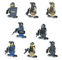 8pcs/lot swat team minifigures building block