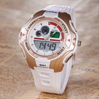 WEIDE Sports Series Wristwatch Back Light Display Fashion White Rubber Band Men's Fashion&Casual Wrist Cycling Watch Wholesale
