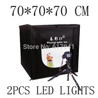 foldable 70 X 70 X 70cm Professional Portable Mini Photo Studio Box Photography Backdrop built-in LED 5500K color Light -CY70