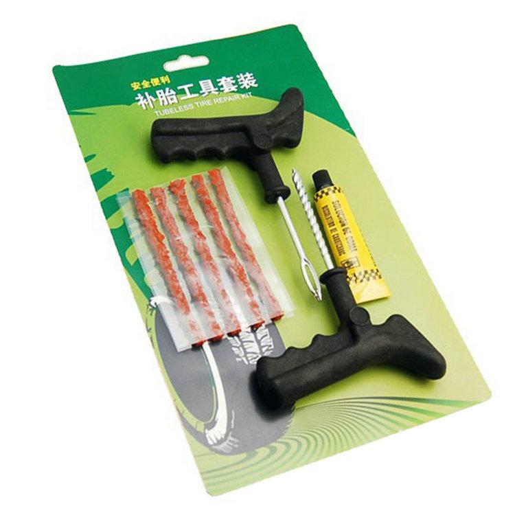 8Pcs/set of Tools for Car Repair Equipment Tubeless Tire Repair Kit Tyre Puncture Plug Motorcycle Car Bike Auto(China (Mainland))
