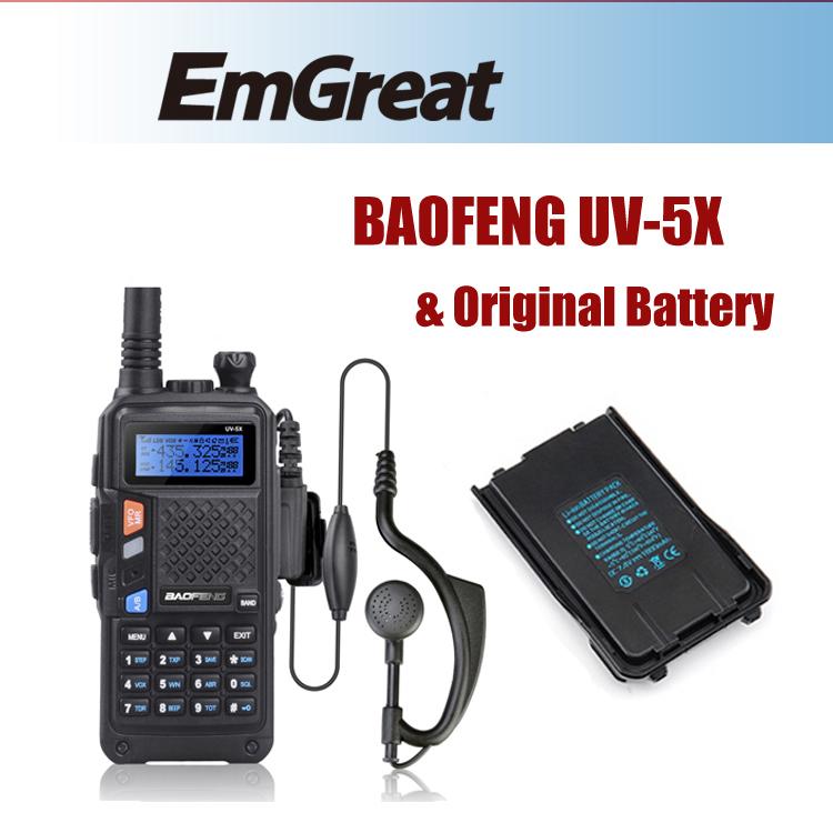 BAOFENG UV-5X Upgraded Version of Baofeng UV-5R Original Main Board UHF+VHF Dual Band Walkie Talkie +One Extra Original Battery(China (Mainland))