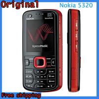 100% Original Unlocked Nokia 5320 Xpress Music Smartphone 2.0MP Camera Bluetooth MP3 MP4 Playaer Mobile Phone Refurbished
