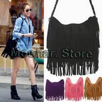 2014 New Fashion Shoulder Bag + Vintage Tassel Cross Women Messenger Bags Popular Women Handbag Free Shipping 20FB098#S5