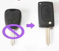 Modified Folding Remote key Shell Flip Key Case Fob 2 Button CONVERSION For Peugeot Partner Boxer For Citroen Saxo Xsara