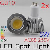 2x 4w GU10 LED spotlight High Brightness COB refletor led led lampada POWER led spot lamp AC110V/220V/230V FREESHIPPING
