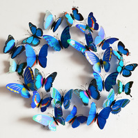 Creative Vivid Butterfly Style Popular Decal Wall Stickers Home Decor Room Decorations 3D Free Shipping K5BO