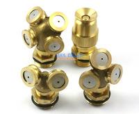 "1 Set 4 Pieces Garden Lawn Water Spray Nozzle Connector Brass 1/2"" PT Thread"