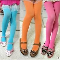 Cotton Girls Floral Leggings Solid Broadcloth Mallas Full Length Velvet Thicken Warm Baby Girls Legging For 2T-8T