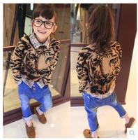 Girls cool tiger pattern leopard cardigans Girls fashion tiger Sweater leopard sweater  Free shipping