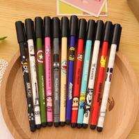 New Printing Diamond Gel Pen Cute Pen Office Stationery Novelty Gift Pen School Supplies 48pcs/Lot