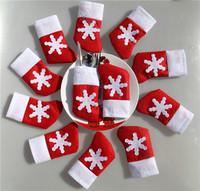 Merry Christmas Decoration 12pcs/lot  Santa Sock Cutlery Suit Silverware Holder Hot Home Restaurant Ornamentation