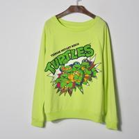 Autumn long-sleeve o-neck sweatshir Ninja Turtle Sweatshirts spring coat cartoon fashion jacket 1 color FREE SHIPPING