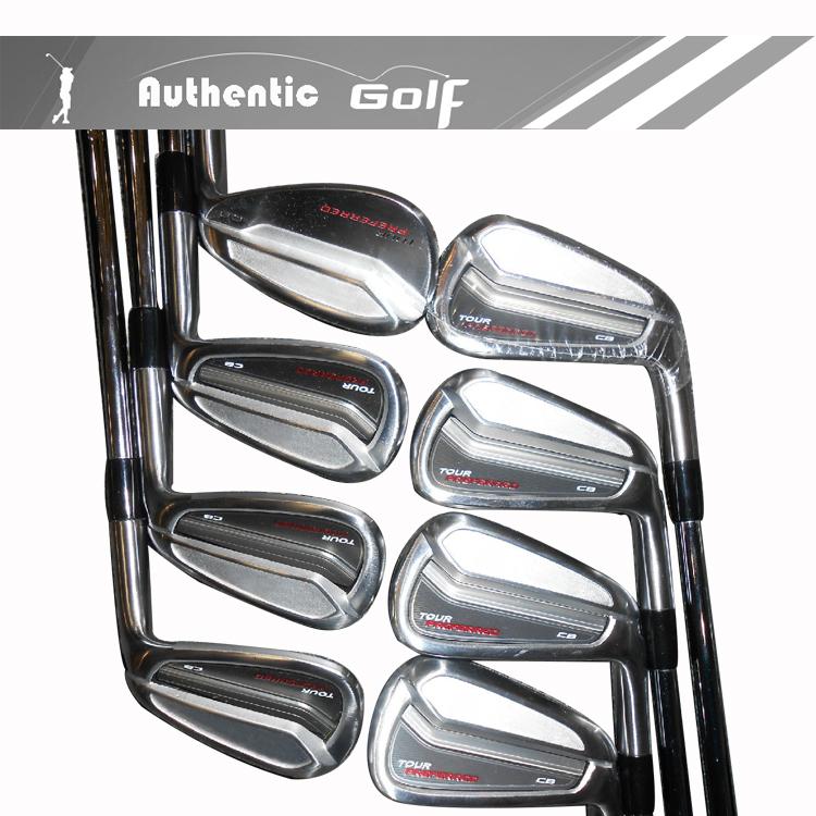 9 pc 2014 Tour preferito cb ferri di golf con giro di KBS FST r alberi in acciaio senza passi mazze da golf headcovers #3456789pa