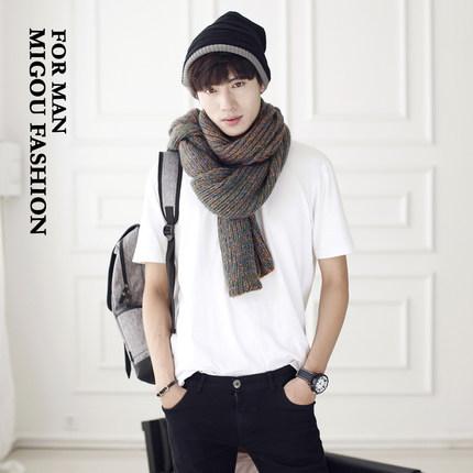 Fashion Brand Unisex Men Man Women Lovers Scarf Knitted All-Match Warm Winter Girl Boyfriend Birthday Gift Outdoors Ring SCW31(China (Mainland))