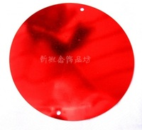 50mm double hole Red sequins PVC sequins, Christmas decorations, Wedding decoration, costume sequins, free shipping