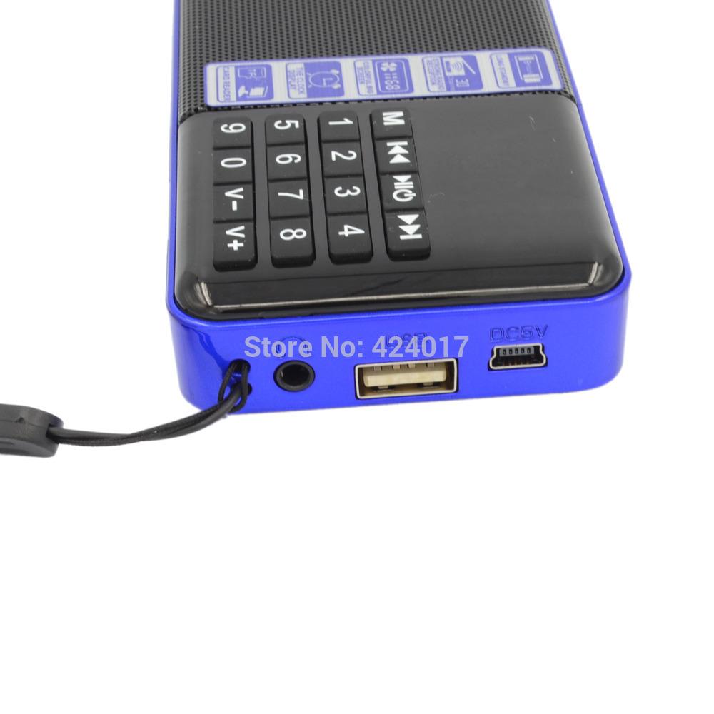 Lcd Digital Portable Mini FM Radio Speaker USB Micro SD TF Slot MP3 Player PC
