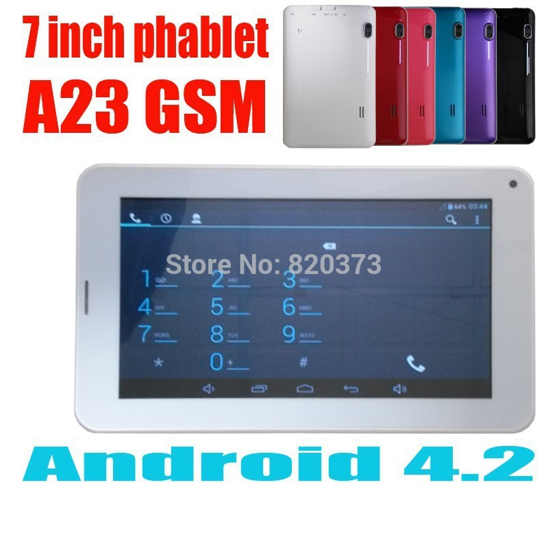 7 inch Tablet PC Allwinner Boxchip A23 Android4.2 Bluetooth 512MB 4GB wifi GSM Phone call Dual camera External 3G(China (Mainland))