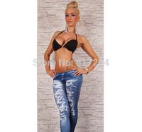 Free shipping Printed Imitation Jeans Fashion legging for women sexy Leggings Slimming Wholesale DDK011